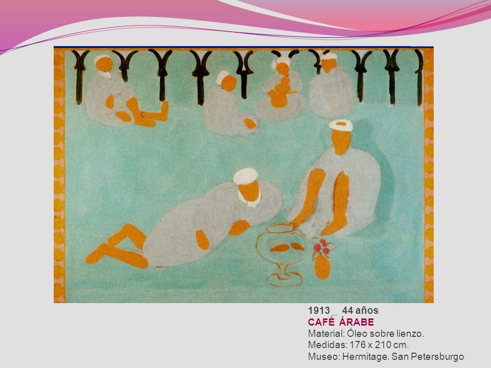 1926 57 años FIGURA DECORATIVA EN UN FONDO ORNAMENTAL Material: Óleo sobre lienzo. Medidas: 130 x 98 cm. Museo: Centre Georges Pompidou. París