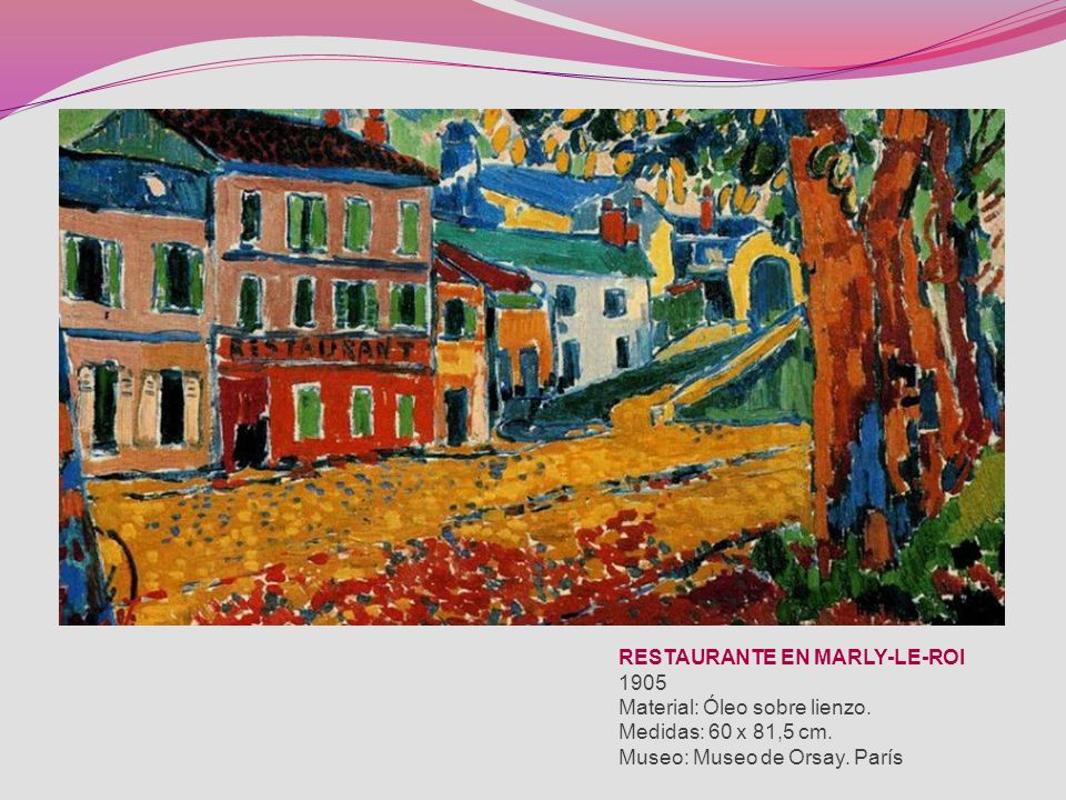 La obra de Vlaminck está muy influida por el colorido y la pincelada de Vincent van Gogh, sobre cuya obra se había mostrado una retrospectiva en París