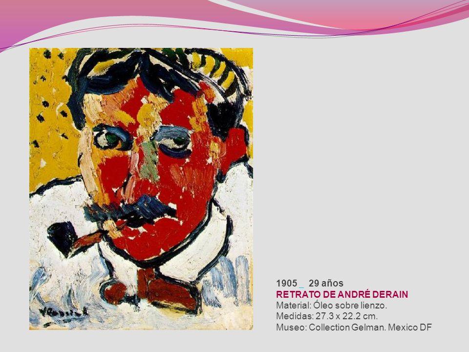 1912 36 años PASAJE DE VALMONDOIS Material: Óleo sobre lienzo. Medidas: 80.6 x 115.6 cm. Museo: Museo de Bellas Artes. Houston