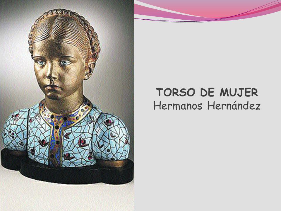 LOS HERMANOS HERNÁNDEZ (OSMUNDO Y ELOY HERNÁNDEZ) Emplean materiales variados, como el cobre, la plata, el marfil, el azabache o el alabastro. Con ell