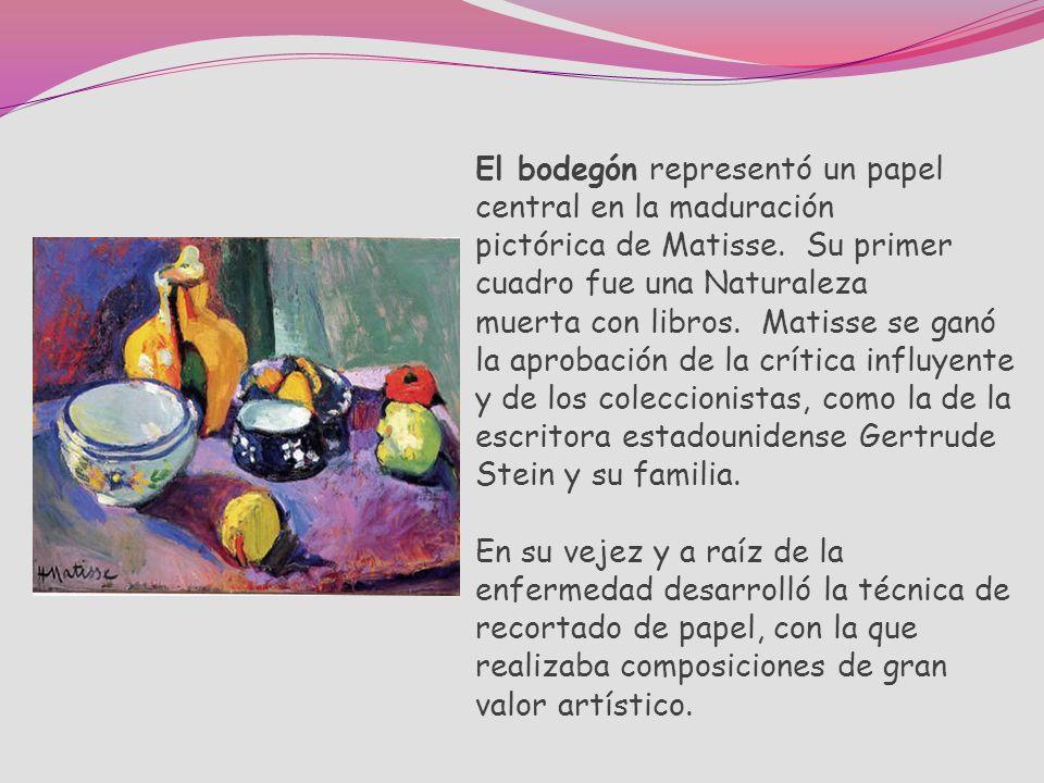 El bodegón representó un papel central en la maduración pictórica de Matisse.