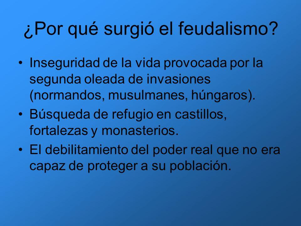 ¿Por qué surgió el feudalismo? Inseguridad de la vida provocada por la segunda oleada de invasiones (normandos, musulmanes, húngaros). Búsqueda de ref