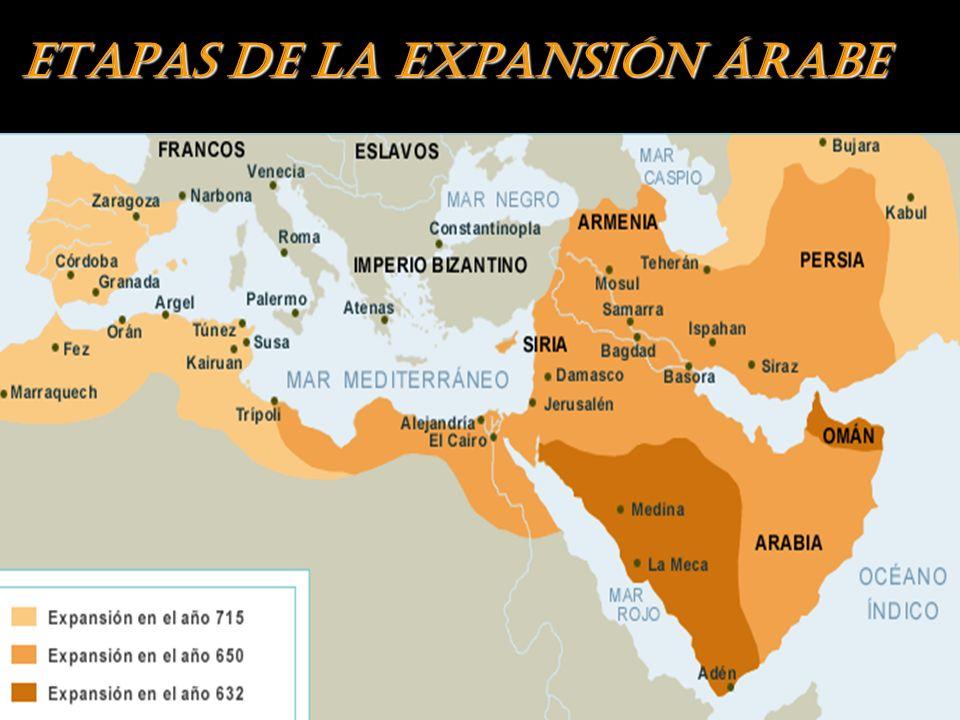 ETAPAS DE LA EXPANSIÓN ÁRABE