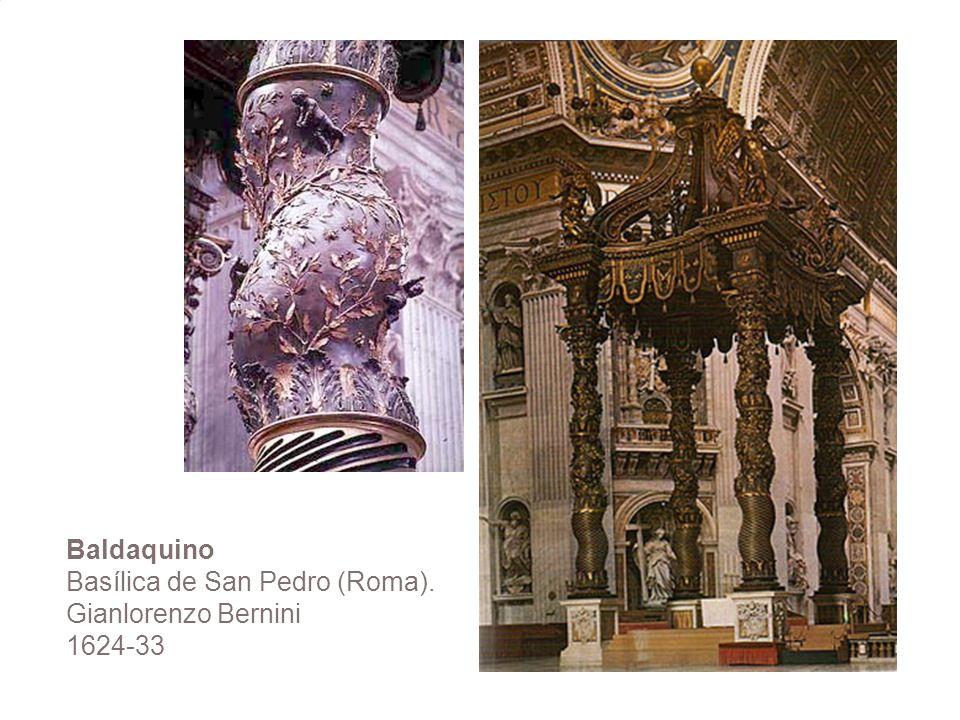 Baldaquino Basílica de San Pedro (Roma). Gianlorenzo Bernini 1624-33