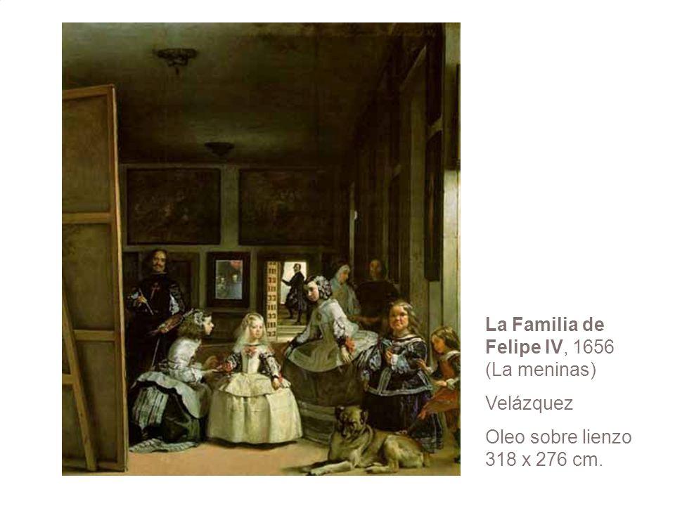 La Familia de Felipe IV, 1656 (La meninas) Velázquez Oleo sobre lienzo 318 x 276 cm.