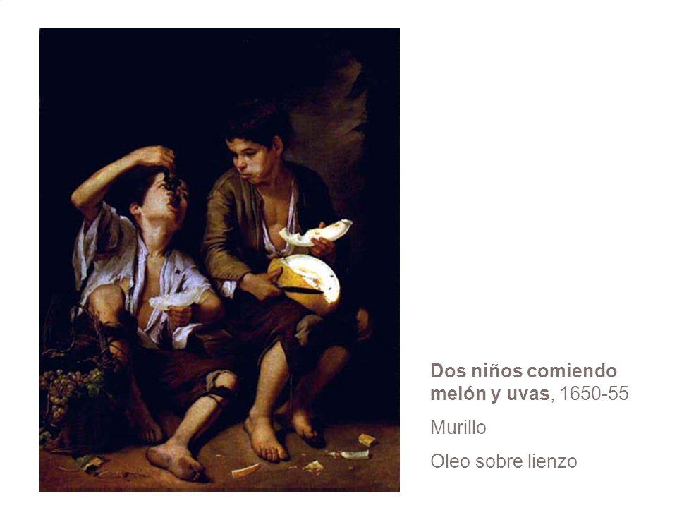 Dos niños comiendo melón y uvas, 1650-55 Murillo Oleo sobre lienzo