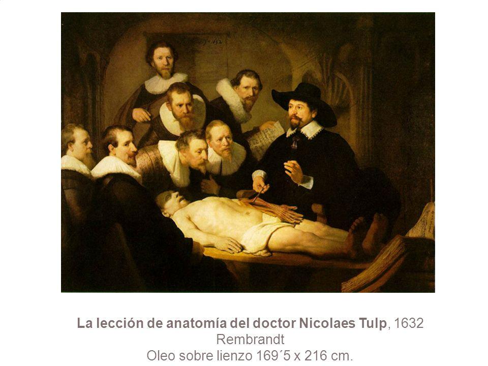 La lección de anatomía del doctor Nicolaes Tulp, 1632 Rembrandt Oleo sobre lienzo 169´5 x 216 cm.