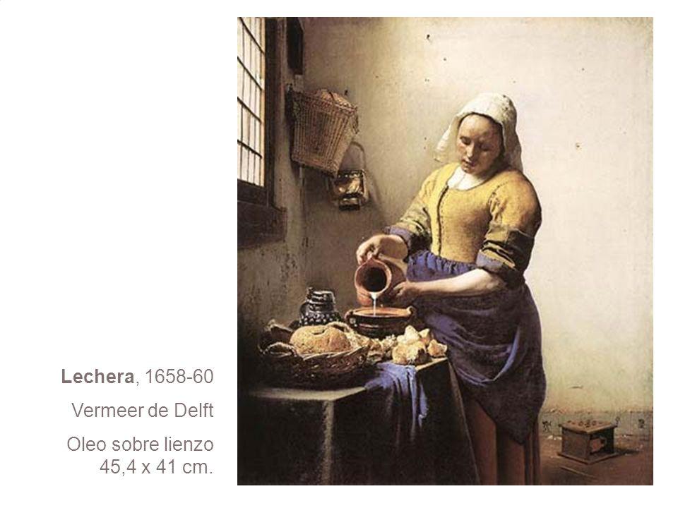 Lechera, 1658-60 Vermeer de Delft Oleo sobre lienzo 45,4 x 41 cm.
