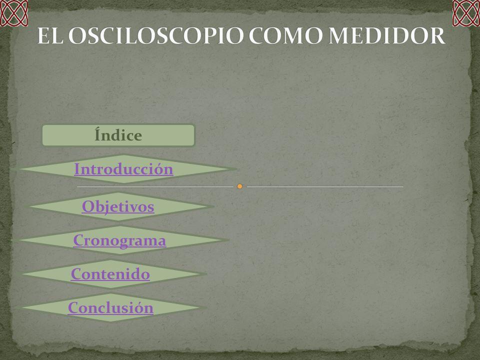 Índice Contenido: Historia del Osciloscopio Definición y Partes Fundamentales Que podemos hacer con un Osciloscopio Tipos de Osciloscopios Controles de un Osciloscopio Tipos de Onda y Manejo Los equipos electrónicos se dividen en dos tipos:Analógicos y Digitales.