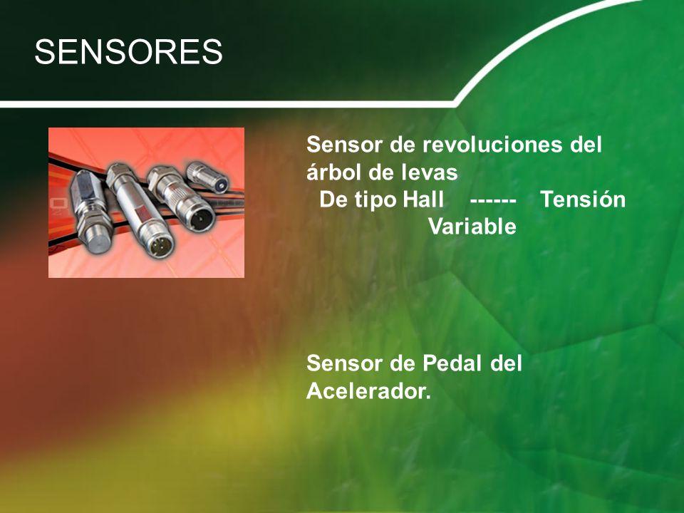 Sensor de revoluciones del árbol de levas De tipo Hall ------ Tensión Variable Sensor de Pedal del Acelerador. SENSORES
