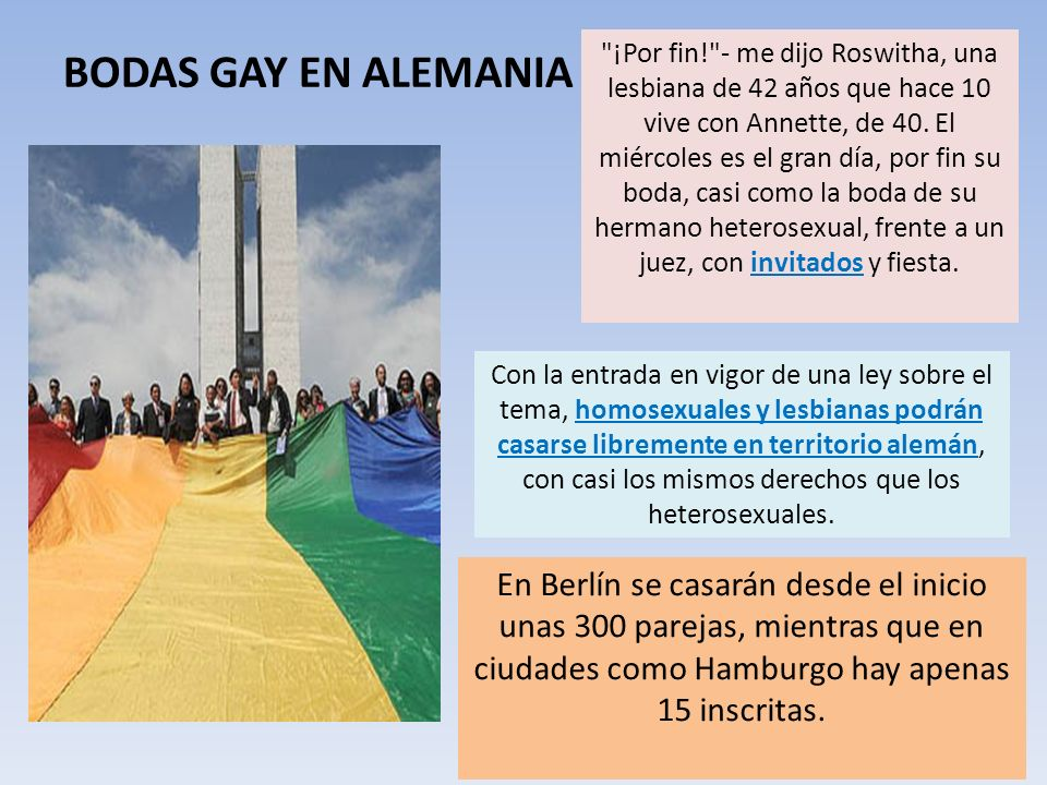 BODAS GAY EN ALEMANIA