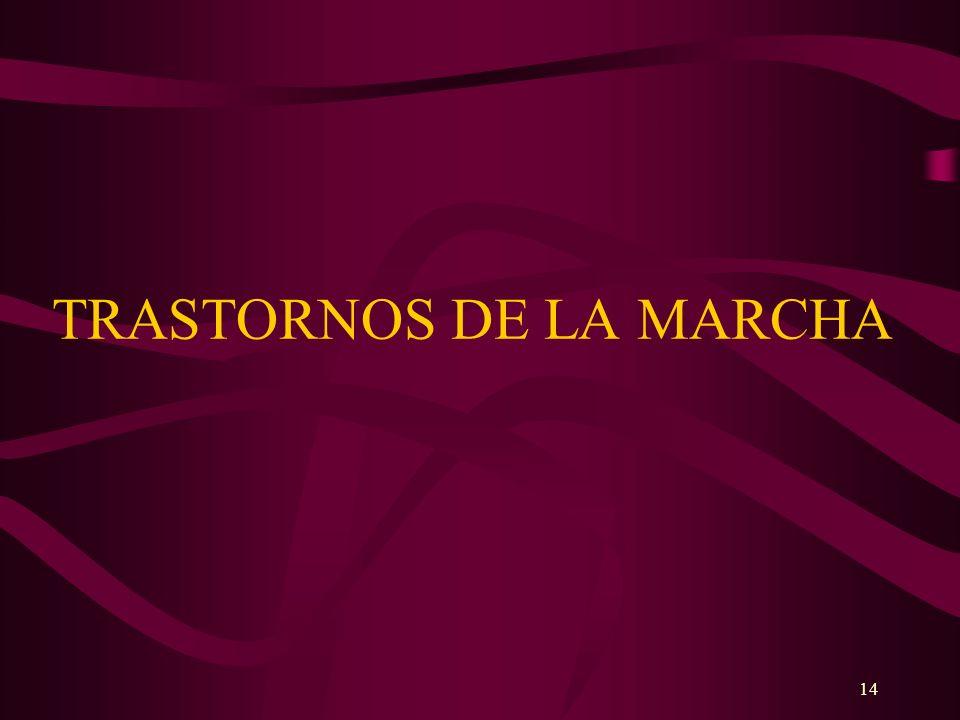 14 TRASTORNOS DE LA MARCHA
