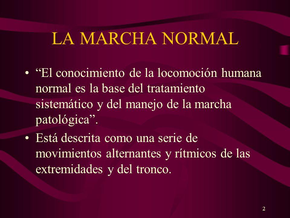 2 LA MARCHA NORMAL El conocimiento de la locomoción humana normal es la base del tratamiento sistemático y del manejo de la marcha patológica. Está de