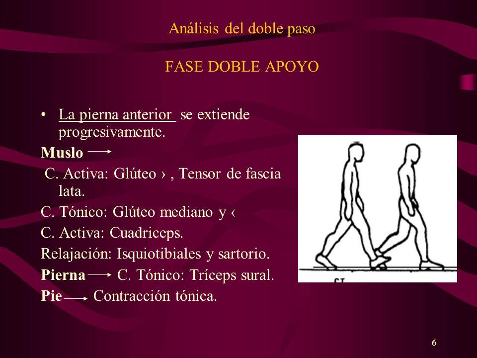 7 Análisis del doble paso FASE DOBLE APOYO La pierna posterior.