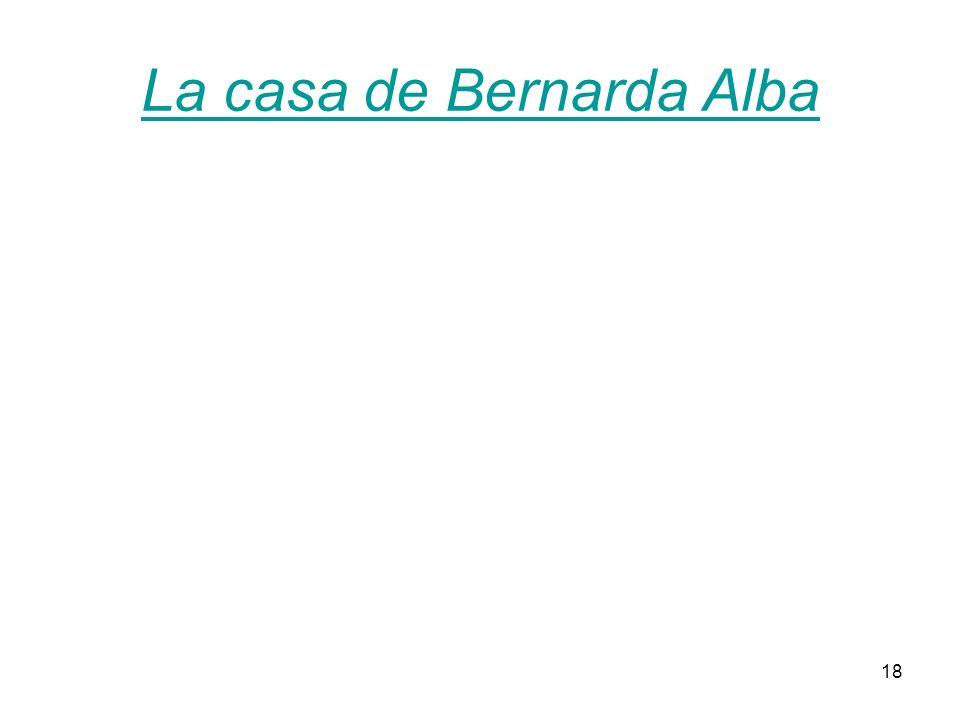18 La casa de Bernarda Alba