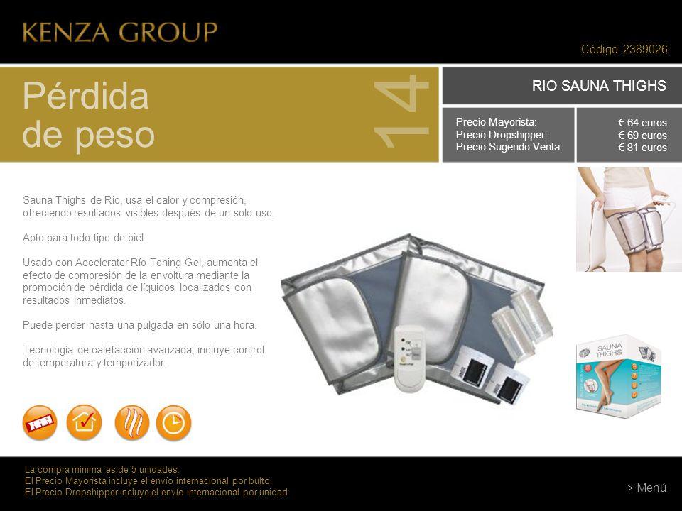Código 2389026 Pérdida de peso 14 Sauna Thighs de Rio, usa el calor y compresión, ofreciendo resultados visibles después de un solo uso. Apto para tod