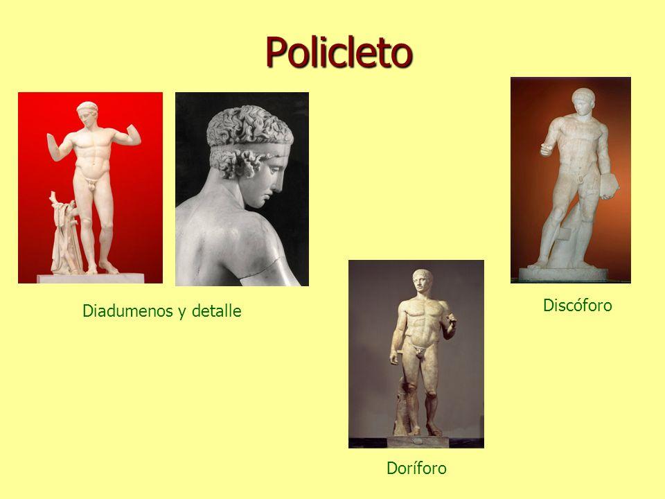 Policleto Diadumenos y detalle Discóforo Doríforo