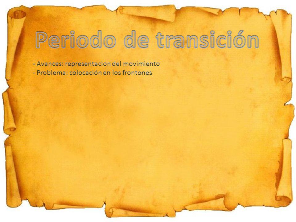 - Avances: representacion del movimiento - Problema: colocación en los frontones