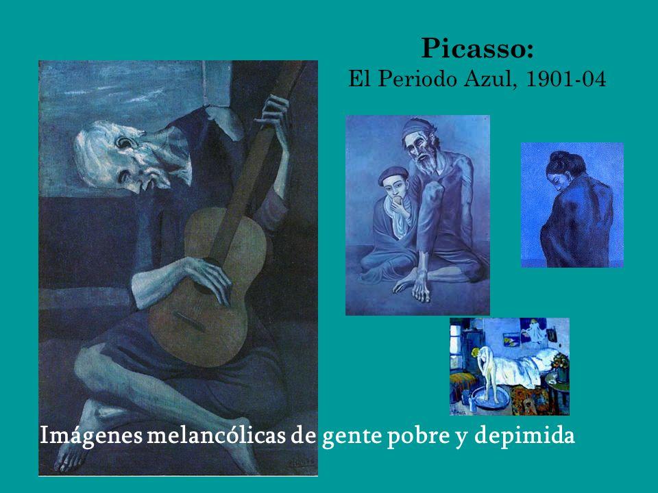 Picasso: El Periodo Azul, 1901-04 Imágenes melancólicas de gente pobre y depimida