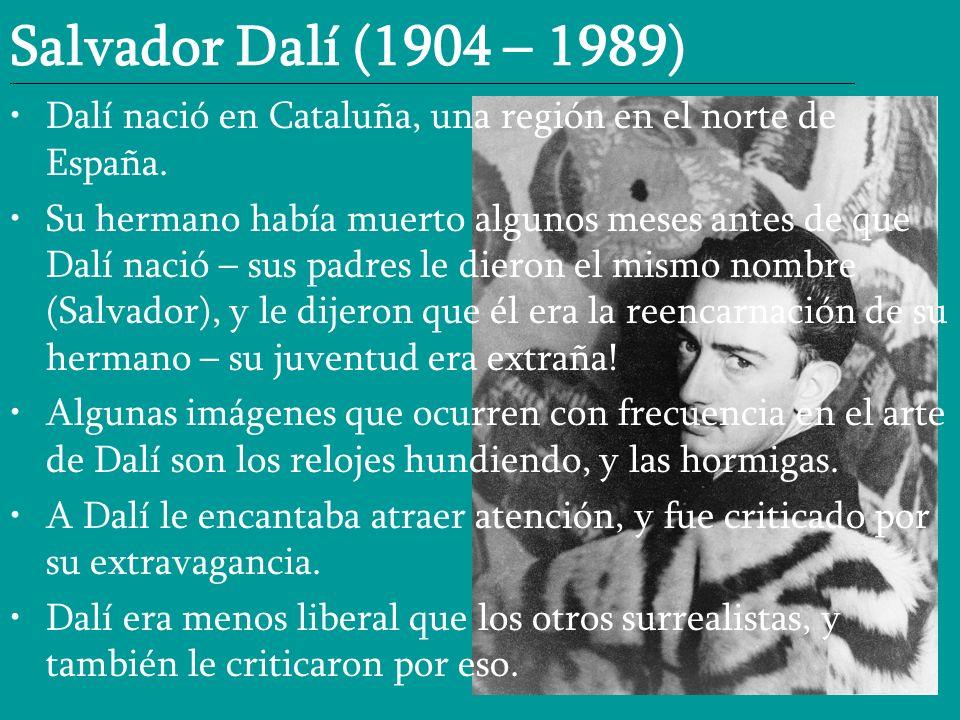 Salvador Dalí (1904 – 1989) __________________________________________________________________________________________________________________________