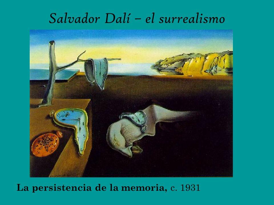 Salvador Dalí – el surrealismo La persistencia de la memoria, c. 1931