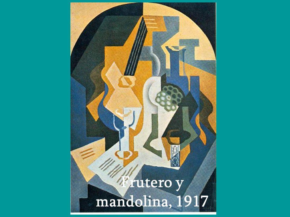 Frutero y mandolina, 1917