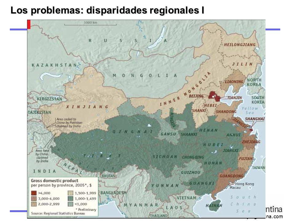www.asiayargentina.com Los problemas: disparidades regionales I