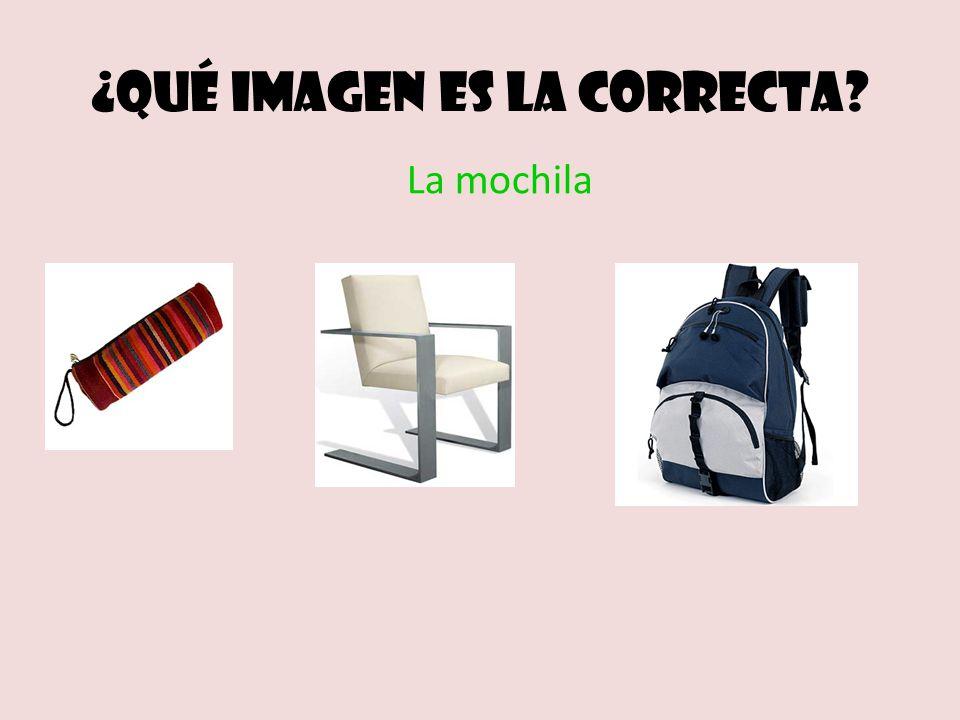 ¿Qué imagen es la correcta? La mochila