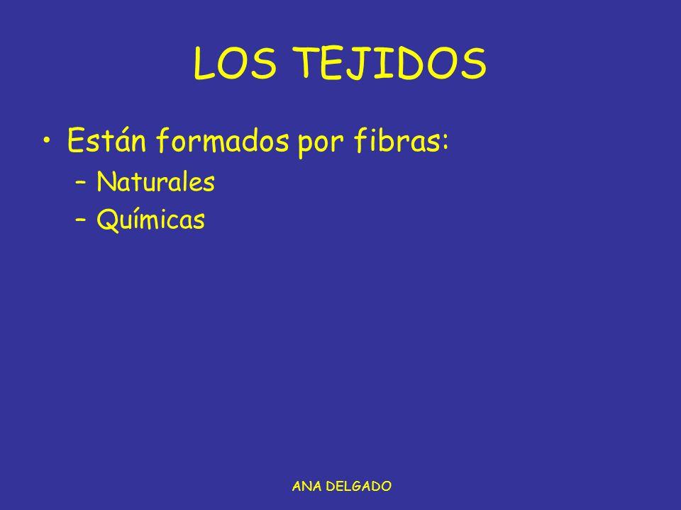ANA DELGADO LOS TEJIDOS Están formados por fibras: –Naturales –Químicas