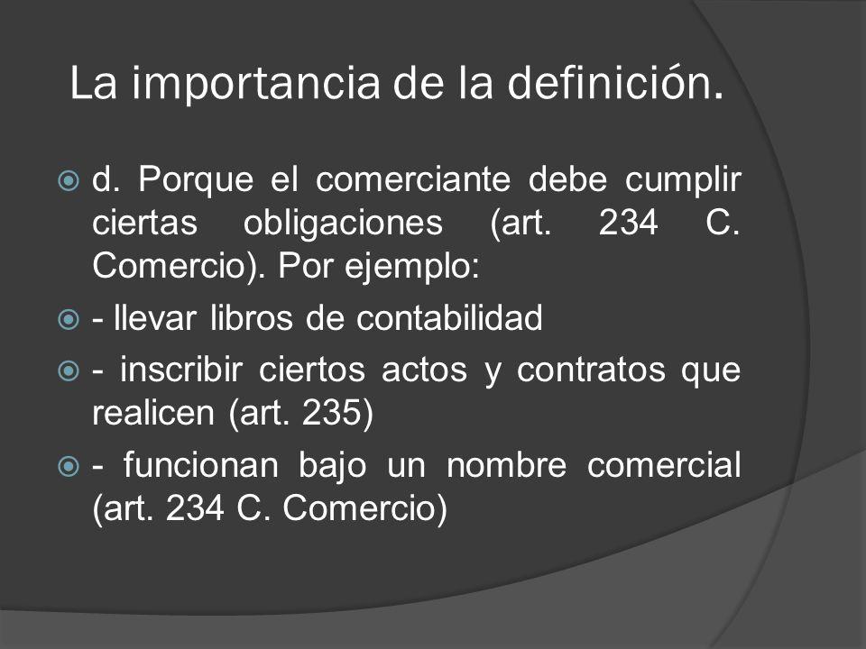 La importancia de la definición.e.