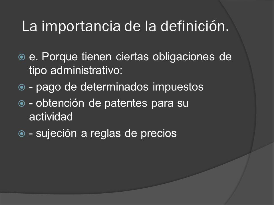 La importancia de la definición.f.