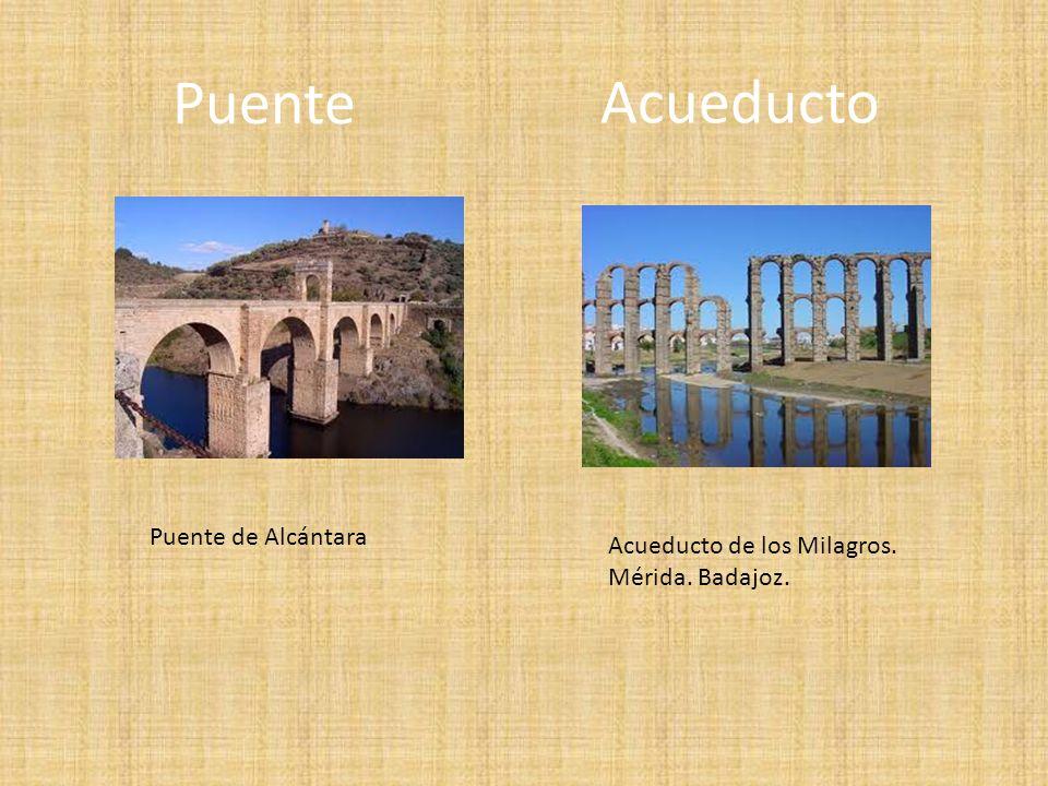 Puente Puente de Alcántara Acueducto de los Milagros. Mérida. Badajoz. Acueducto