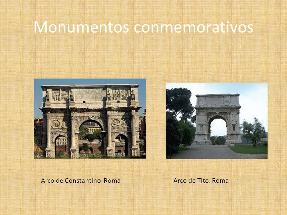 Monumentos conmemorativos Arco de Constantino. RomaArco de Tito. Roma