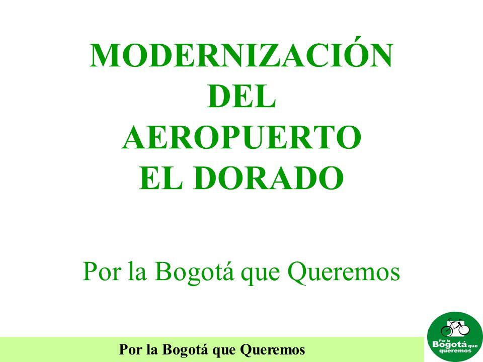 Por la Bogotá que Queremos MODERNIZACIÓN DEL AEROPUERTO EL DORADO Por la Bogotá que Queremos