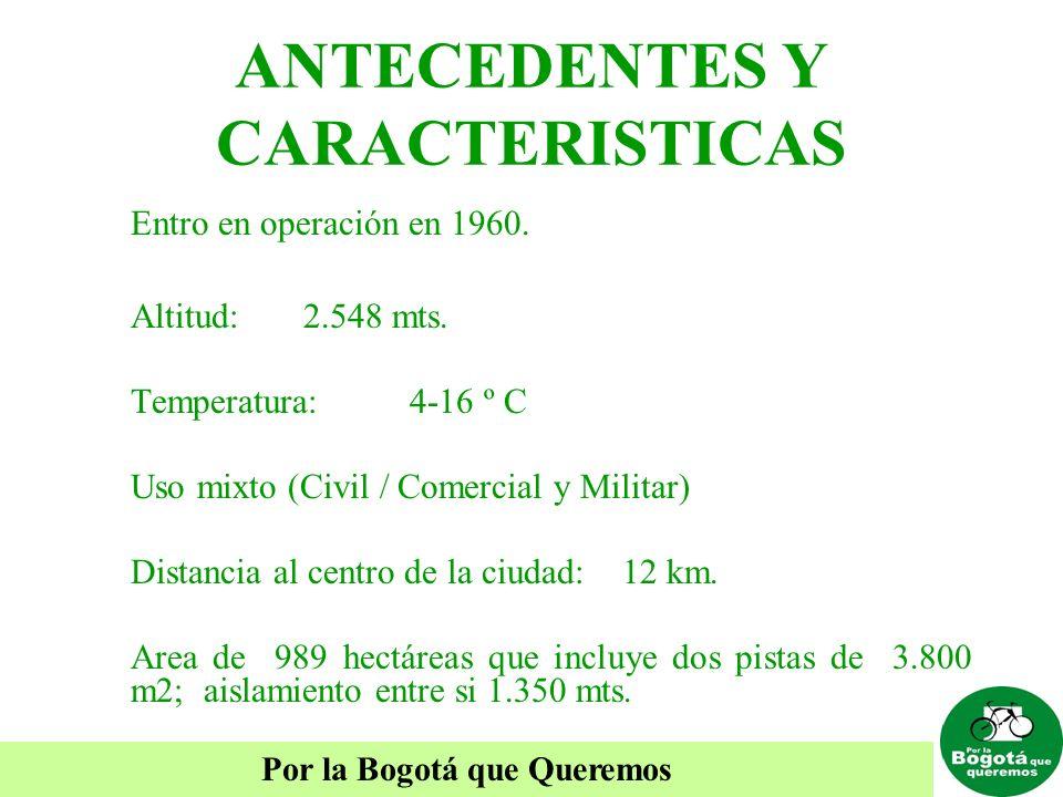 ANTECEDENTES Y CARACTERISTICAS Entro en operación en 1960. Altitud: 2.548 mts. Temperatura: 4-16 º C Uso mixto (Civil / Comercial y Militar) Distancia