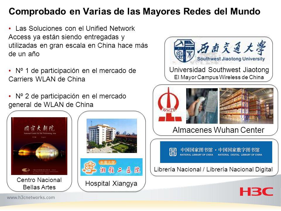 Comprobado en Varias de las Mayores Redes del Mundo Almacenes Wuhan Center Universidad Southwest Jiaotong El Mayor Campus Wireless de China Librería N