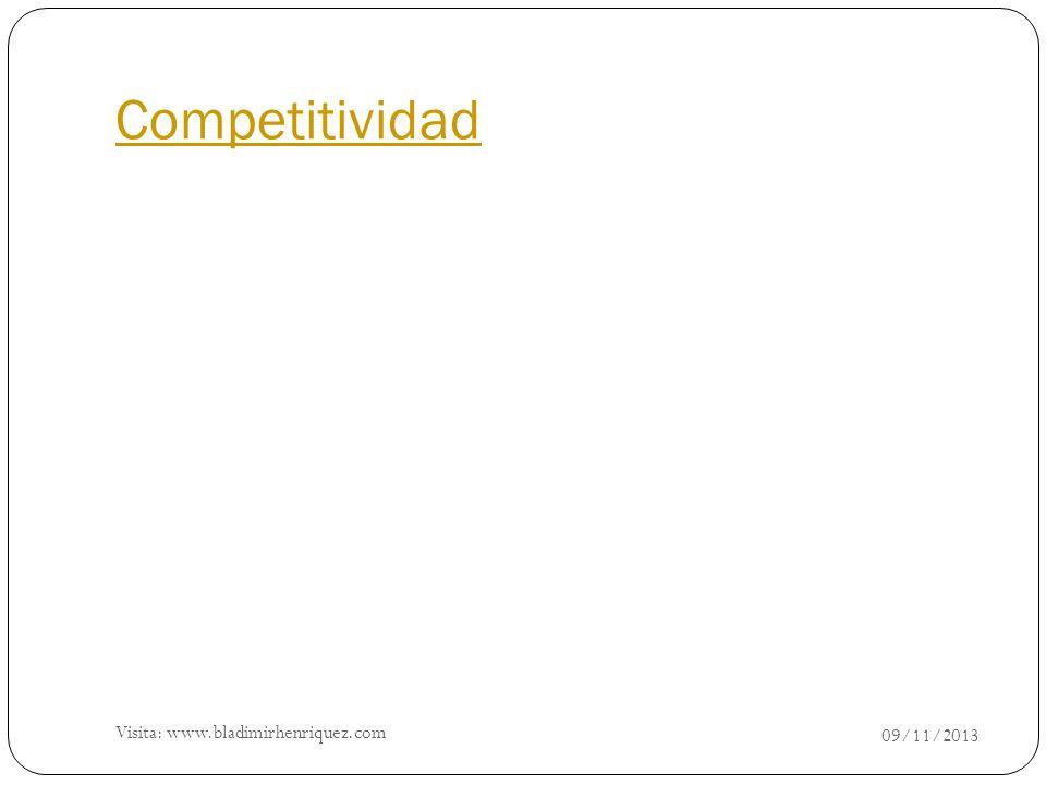Competitividad 09/11/2013 Visita: www.bladimirhenriquez.com