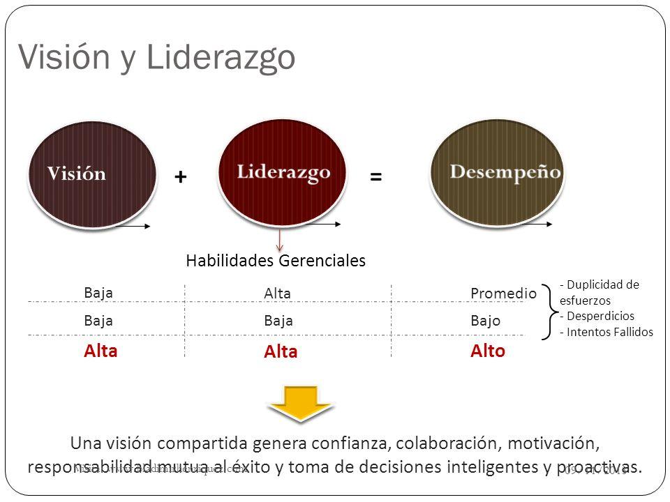 La visión a lo largo de la Organización Visión Organizacional La visión es del líder y de su equipo, sin importar el nivel en la organización 09/11/2013 Visita: www.bladimirhenriquez.com