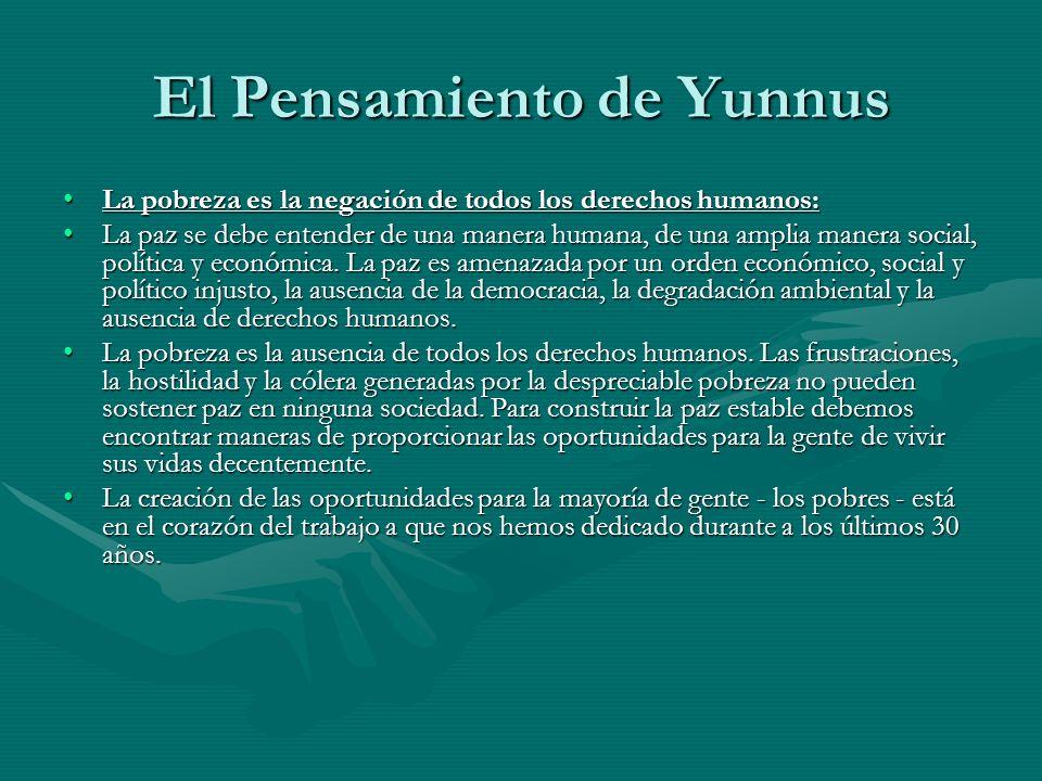 El Pensamiento de Yunnus La pobreza es la negación de todos los derechos humanos:La pobreza es la negación de todos los derechos humanos: La paz se de