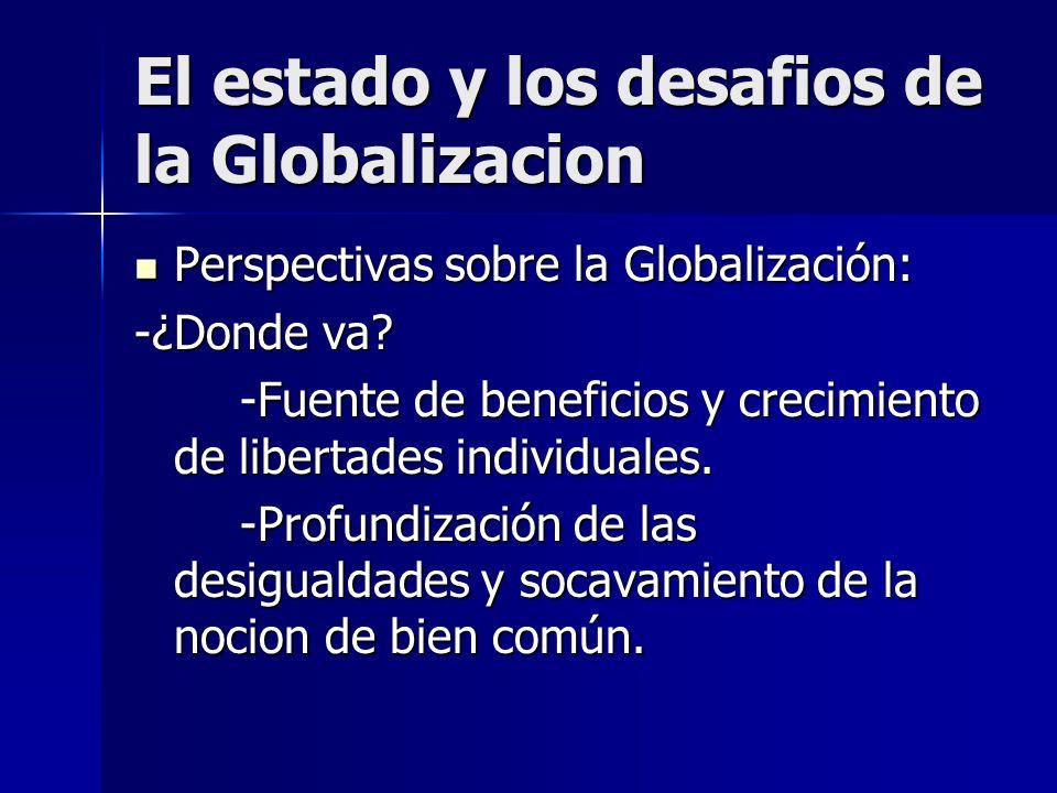 Perspectivas sobre la Globalización: Perspectivas sobre la Globalización: -¿Donde va? -Fuente de beneficios y crecimiento de libertades individuales.