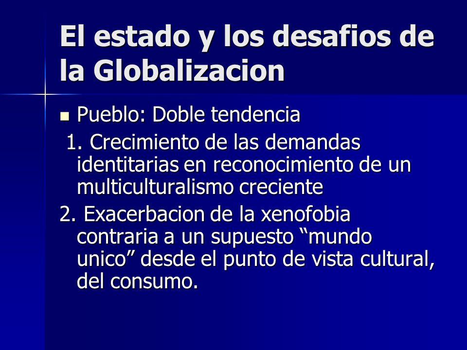 Pueblo: Doble tendencia Pueblo: Doble tendencia 1. Crecimiento de las demandas identitarias en reconocimiento de un multiculturalismo creciente 1. Cre