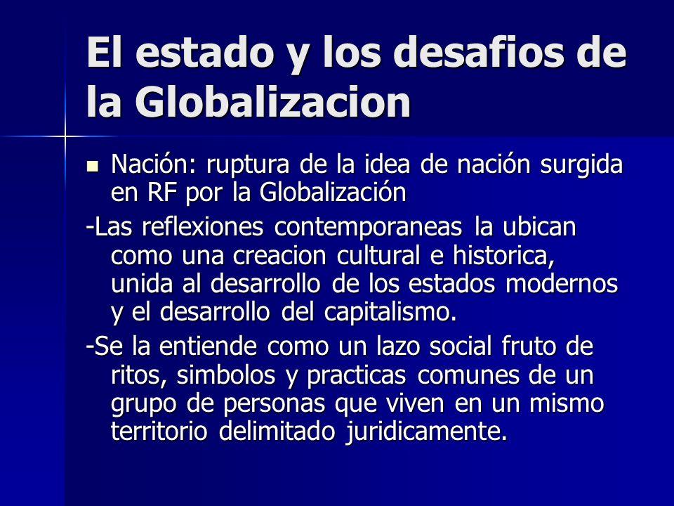 El estado y los desafios de la Globalizacion Rol del Estado Rol del Estado Socavado por la fragmentacion social y el menor peso del estado, marginacion y falta de derechos sociales.