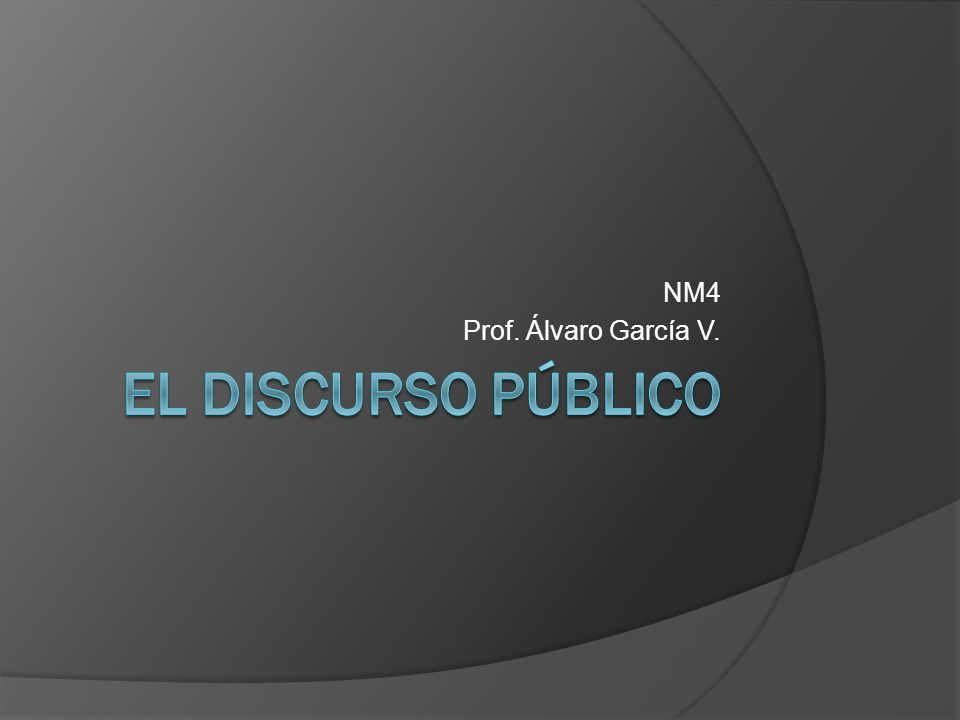 NM4 Prof. Álvaro García V.