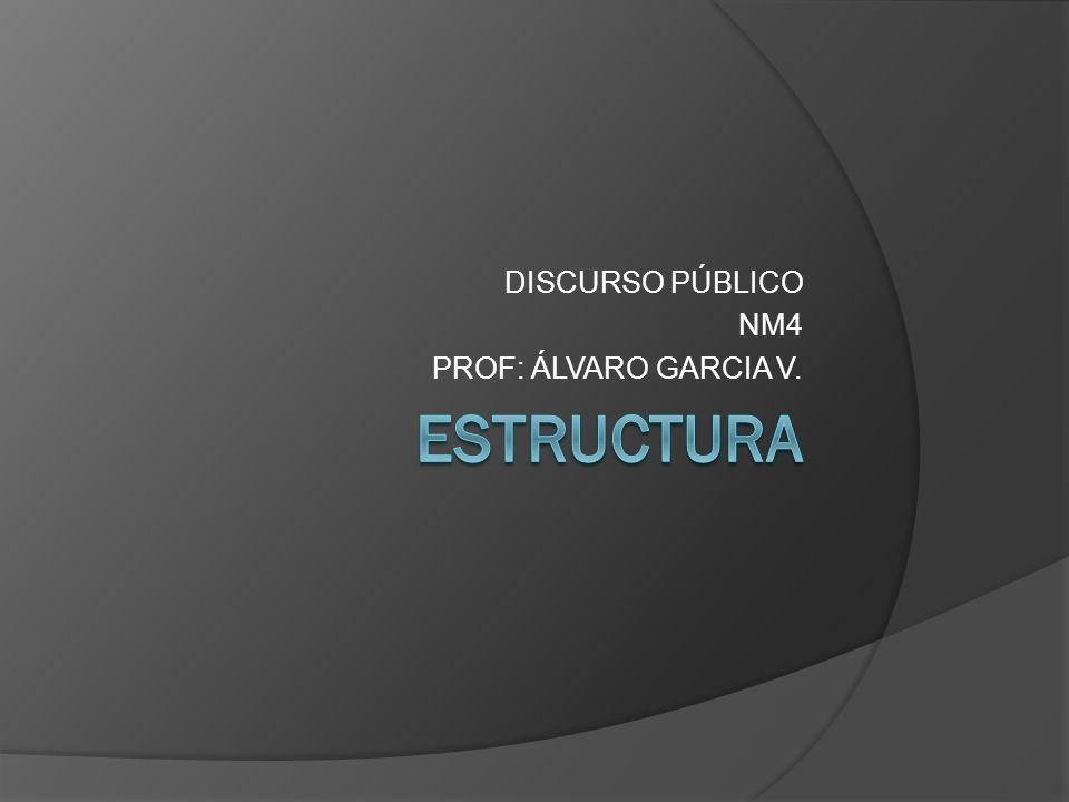 DISCURSO PÚBLICO NM4 PROF: ÁLVARO GARCIA V.