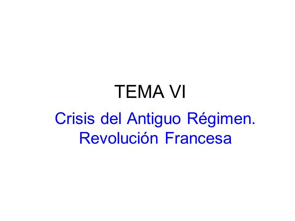 TEMA VI Crisis del Antiguo Régimen. Revolución Francesa