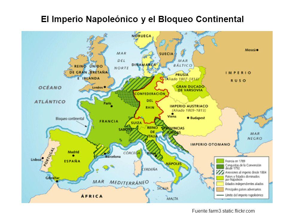 El Imperio Napoleónico y el Bloqueo Continental Fuente:farm3.static.flickr.com