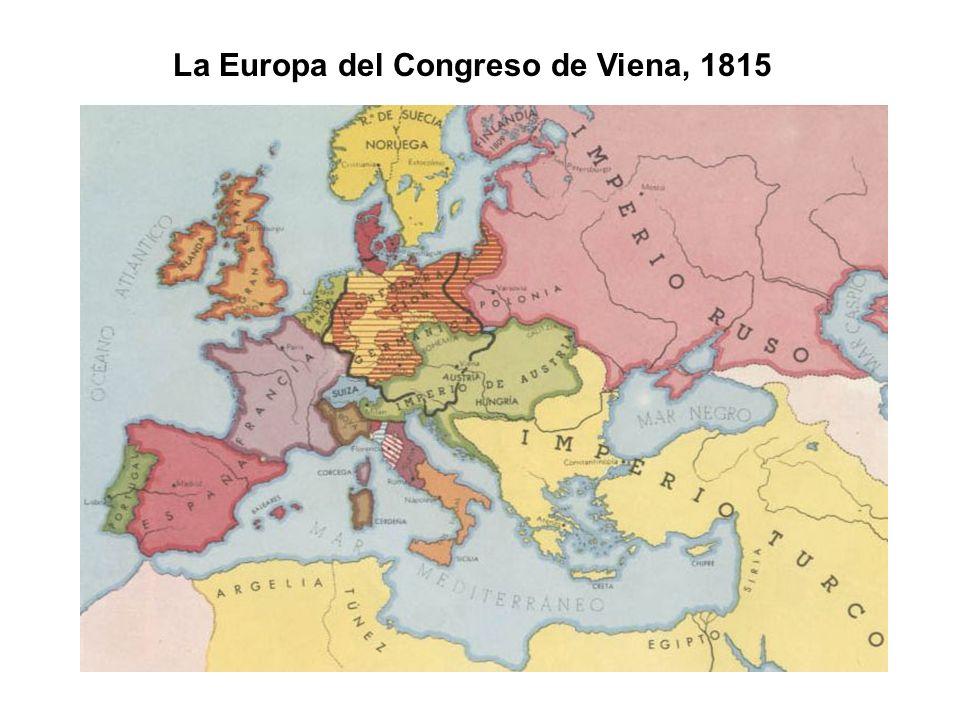 La Europa del Congreso de Viena, 1815