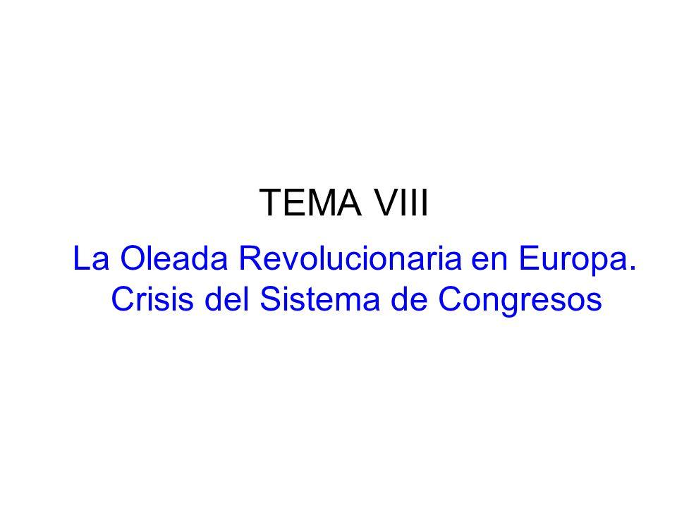TEMA VIII La Oleada Revolucionaria en Europa. Crisis del Sistema de Congresos