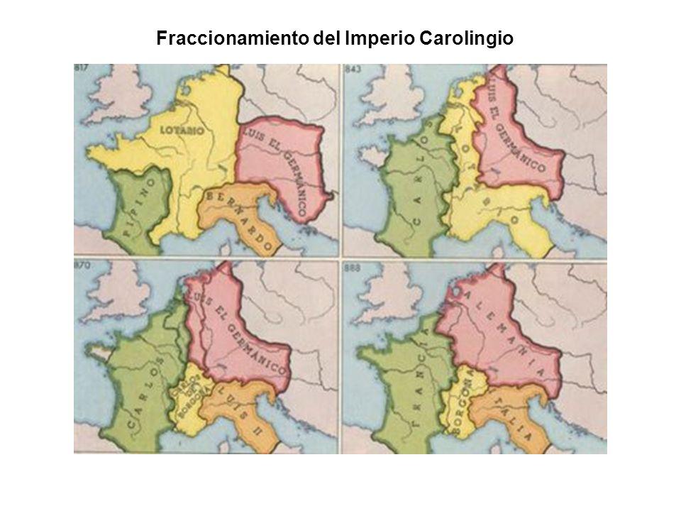 Fraccionamiento del Imperio Carolingio