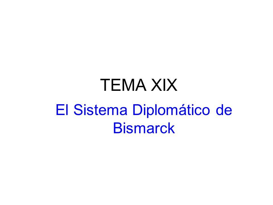 TEMA XIX El Sistema Diplomático de Bismarck